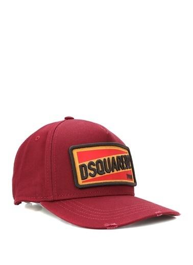 Dsquared2 Dsquared2  Patchli Yazı Nakışlı Erkek Şapka 101622825 Bordo